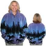 Twilight Horses Fleece Jacket