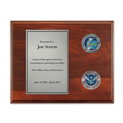 Coins Plaque - Nickel/Silver (CISA)