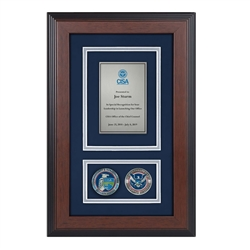Recognition Shadow Box w/ Coins (CISA)