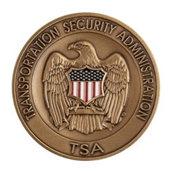 TSA Agency Challenge Coin - Brass/Color