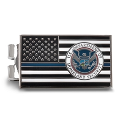 Blue Line Money Clip