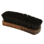 Executive Large Shoe Shine Brush - Black Horse Hair Bristles