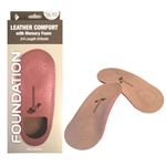 Foundation Leather 3/4 Orthotics