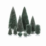 DEPARTMENT 56 BAG-O-FROSTED TOPIARIES SMALL