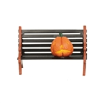 Halloween Village Haunted Pumpkin Bench