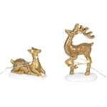 Department 56 Village Lit Deer Yard Decor
