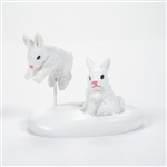 Department 56 Village White Christmas Bunnies