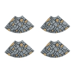 Department 56 Village Limestone Curved Road Set of 4