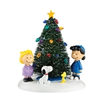 Department 56 Peanuts Village O'Christmas Tree