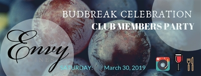 Envy Wines Budbreak Party Tickets - March 30 2019
