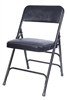 Blue Vinyl Metal Discount Chairs, NEW YORK FOLDING CHAIRS
