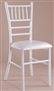Wholesale Price for White Chiavari Metal Chair w Free Cushion