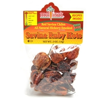 Dried Savina Ruby Hot Chiles