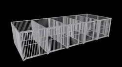 Multiple Dog Kennels, 5-Run European Style Dog Kennel 5x10