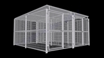 2-Run Dog Kennel w/Roof Shelters 6x12