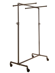 Garment Display Rack with Single Bar