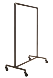 Garment Rack with Single Bar from www.zingdisplay.com