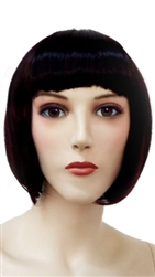 Short Black Hair Mannequin Wig with Bangs