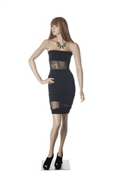 Standing Female Mannequin with her Hand on her Hip and Realistic Facial Features from www.zingdisplay.com