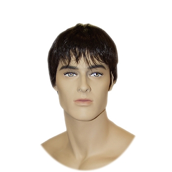 Dark Brown Wig for Male Display Head