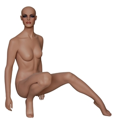 Female Mannequin with Realistic Makeup and her Hand on her Hip