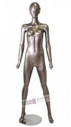 Metallic Gold Retro Abstract Female Mannequin