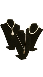 Black Velvet Necklace Bust Displays