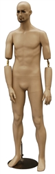 Male Mannequin with Flexible Elbows - Fleshtone Fiberglass from Zing Display