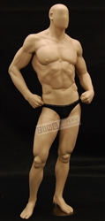 Fleshtone Ripped Male Muscular Mannequin with Hands on Hips