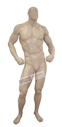 Ripped Male Muscular Mannequin with Hands on Hips