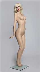 Realistic Flirty Female Flesh Tone Mannequin Left Hand on Hip