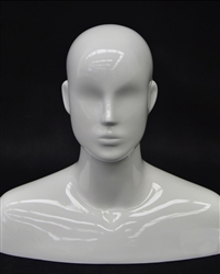 Glossy White Egghead Male Display
