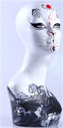 Tribal Cat Artistic Full Make Up Abstract Head Display