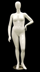 Abstract Egghead Plus Sized Female Mannequin in Glossy White or Matte White from www.zingdisplay.com