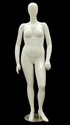 Abstract Egghead Plus Sized Female Mannequin in  Matte White from www.zingdisplay.com