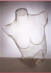 Clear Female Torso Form Unbreakable