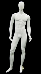Unbreakable Male Egghead Mannequin in Glossy White