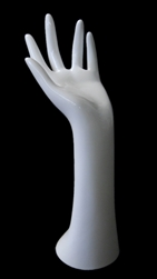 "12.5"" Ladies Right Glove Hand in White Plastic from www.zingdisplay.com"