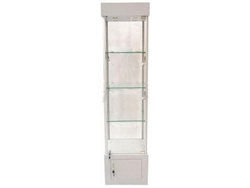 4-Shelf Glass Display Rack with Lower Cabinet