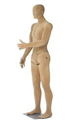 Tan Adjustable Mannequin with Facial Features