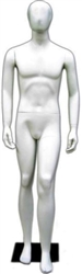 Abstract Egghead Male Mannequin in Matte White from www.zingdisplay.com