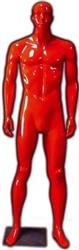 Male Mannequin in Glossy Red from www.zingdisplay.com