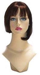 Dark Brown Display Wig