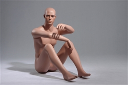 Petite Male Caucasian Mannequin Sitting on Floor