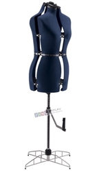 Adjustable Medium/Large Dress Form Navy Blue