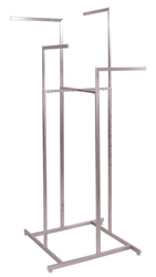 4 Way Adjustable Garment Rack with Straight Arms