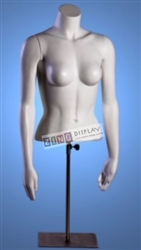 Female Torso Form with Magnetic Arms Matte White