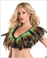 Green Feather Top