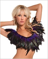Purple Feather Top