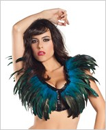 Turquoise Feather Top